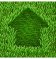 home on green grass vector image