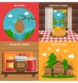 Honey Concept Icons Set vector image vector image