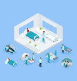 isometric healthcare concept vector image vector image