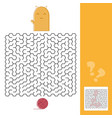 kitten and wool ball maze game with solution vector image