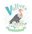 Letter V - Vulture vector image vector image