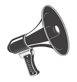 Megaphone monochrome icon isolated on white vector image vector image