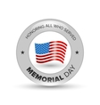 Memorial day badge vector image vector image