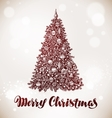 Merry Christmas Xmas tree with decorations vector image vector image
