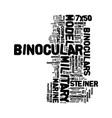 Military binoculars text background word cloud vector image