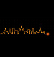 moscow light streak skyline vector image