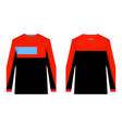 mtb jersey templates vector image vector image