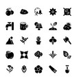 nature and ecology solid icons 2 vector image vector image