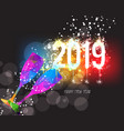 new years 2019 polygonal colorful triangle glass vector image vector image