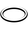 oval round banner frame elegant lines borders vector image