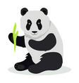 panda cartoon flat vector image vector image
