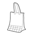 paper bag icon outline vector image