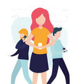 people online related vector image vector image