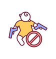 prevent child death with gun control rgb color vector image vector image