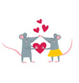 rat couple in love vector image
