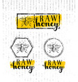 raw honey creative sign concept organic vector image vector image