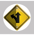 Road sign design vector image vector image