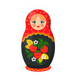 russian nesting doll closeup vector image