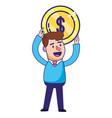 saving money cartoon vector image