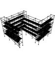 scaffolding structure vector image