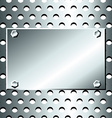 Seamless stainless grid with bolted plate vector image vector image