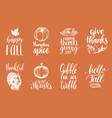 set lettering and vector image vector image