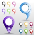Set of multicolored circle pointers vector image vector image