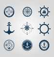 Set of nautical labels icons logo symbol vector image vector image