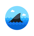 Shark fin icon Summer Vacation vector image vector image