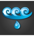 sign of water bluegray background 10 eps vector image vector image