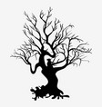 silhouettes of tree vector image