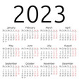 simple calendar 2023 monday vector image vector image