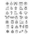 simple set christmas icons vector image