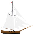 Sloop ship vector image vector image