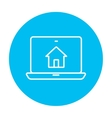 Smart house technology line icon vector image