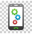 smartphone apps gears gradient icon vector image