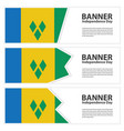 st vincent amp the grenadines flag banners vector image vector image