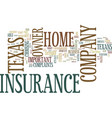 texas home owner insurance company text vector image vector image