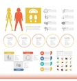 Thick slim body set icon info graphic vector image