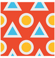 triangles and circles fat and solid seamless vector image