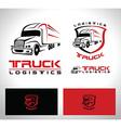 Truck Trailer Logo vector image