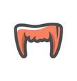 vampire teeth halloween icon cartoon vector image
