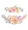 vintage floral bouquets vector image