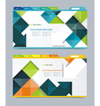 Web design navigation set vector image vector image