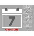 Week Flat Icon vector image vector image