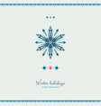 winter grunge colorful ornate shape ice snowflake vector image vector image