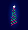 zigzag stripes white star xmas new year symbol vector image vector image