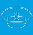 white nautical hat icon outline vector image