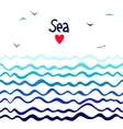 Marine seamless horizontal background with waves vector image