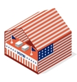 tent for a vote United States presidential vector image
